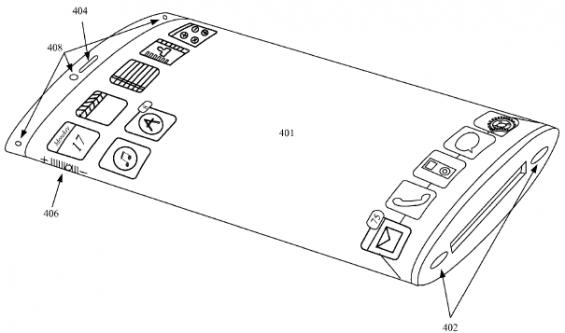 apple patent wraparound display