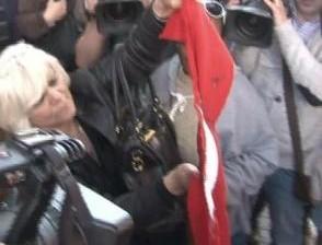 сожгли турецкий флаг