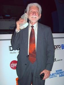 Martin Cooper with Motorola DynaTAC