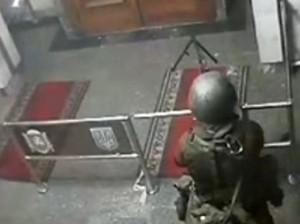 Захват Совмина АРК. Видео с камеры наблюдения