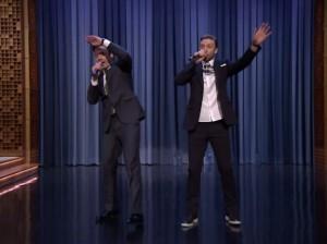 Джастин Тимберлейк «порвал» 5-минутным рэпом сцену на шоу Джимми Феллона