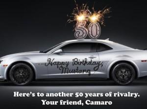 Chevrolet Camaro: с днем рождения, Mustang!