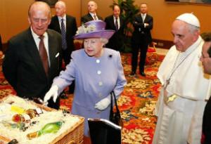 Королева Великобритании и Папа римский