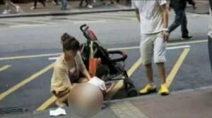 Помочившийся на улице ребенок стал причиной социальной войны