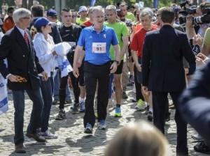 В 35-ом марафоне в Брюсселе участвовал бельгийский король