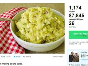 Американец собрал почти восемь тысяч долларов на картофельный салат