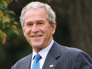 Джордж Буш облил себя ледяной водой