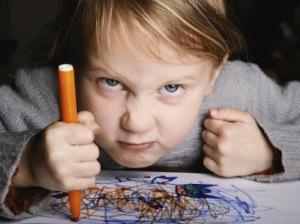 Girl coloring