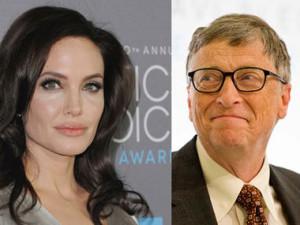 Анджелина Джоли и Билл Гейтс