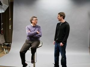 Билл Гейтс и Марк Цукерберг
