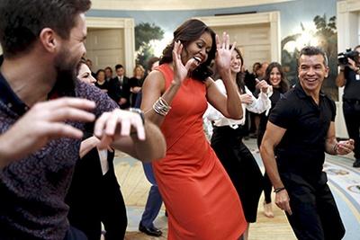 Мишель Обама станцевала