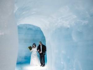 в леднике