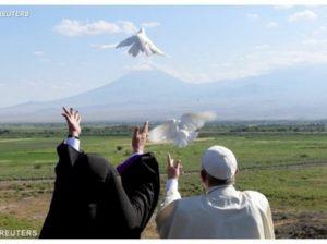 голуби мира к Арарату