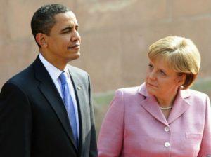 барак обама Меркель
