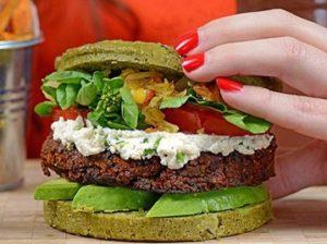 полезный гамбургер