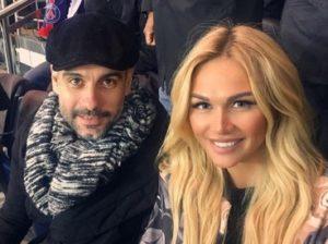 Хосеп Гвардиола и Виктория Лопырева