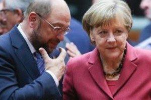 Шульц и Меркель