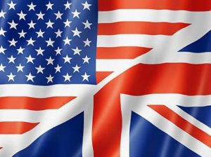 United States and British flag