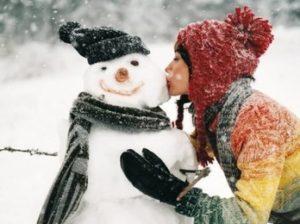 женщины зимой