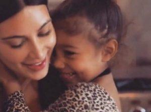 Ким с дочкой