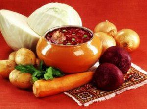 Овощи борщевого набора