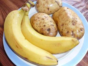 бананы и картофель
