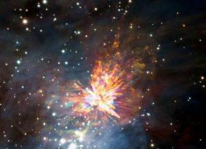 космический фейерверк
