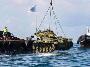 утопили танки