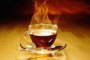 горячий чай