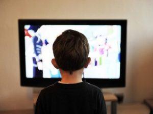 у телевизора