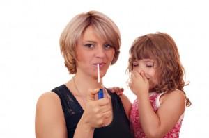 Not smoke near children